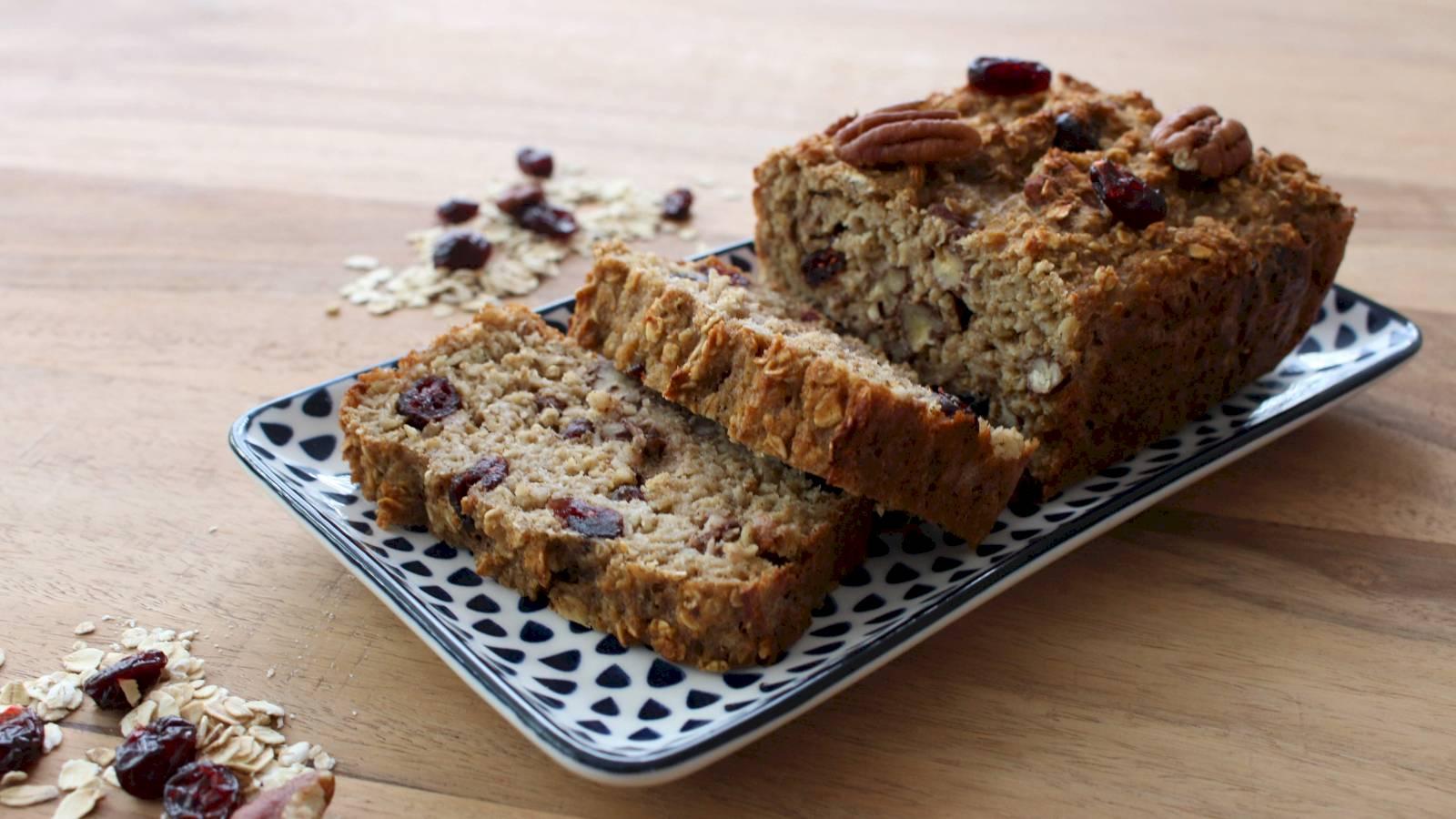 Lekker en gezond recept: havermoutcake met cranberrys